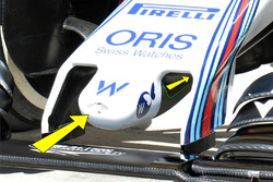 Détails du nez de la Williams FW38