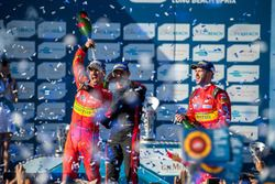 Podium: Sieger Lucas di Grassi, ABT Schaeffler Audi Sport: 2. Stéphane Sarrazin, Venturi; 3. Daniel
