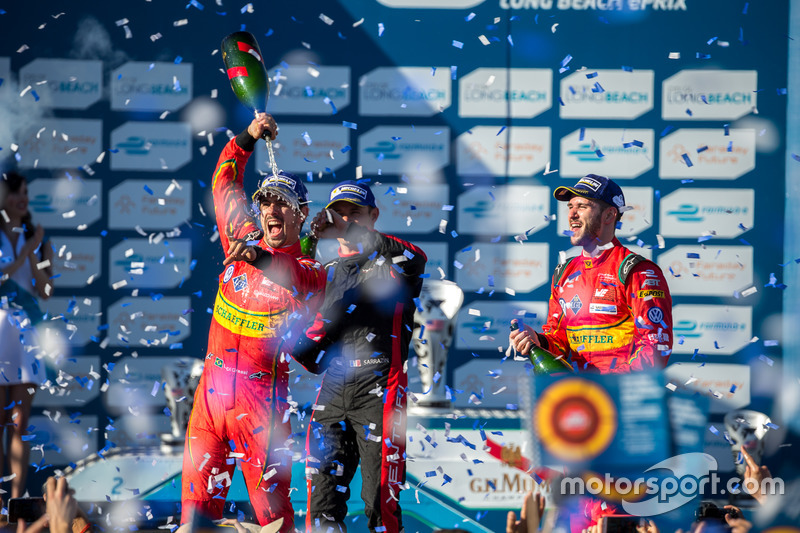 Long Beach: 1. Lucas di Grassi, 2. Stephane Sarrazin, 3. Daniel Abt