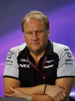 Robert Fernley, directeur adjoint Sahara Force India F1 Team lors de la conférence de presse de la FIA