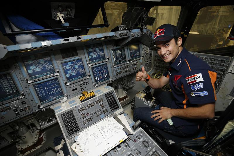 Dani Pedrosa, Repsol Honda Team, en visite au NASA Johnson Space Center