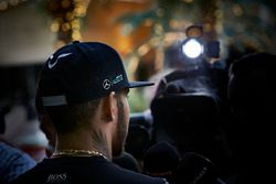 Lewis Hamilton, Mercedes AMG F1 Team with media
