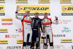 Podium: winner Tom Ingram, Speedworks Motorsport, second place Matt Neal, Halfords Yuasa Racing, thi