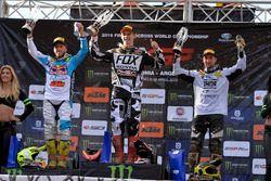 Il Podio della MXGP: Tony Cairoli, Tim Gajser e Maximilian Nagl