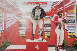 Trofeo Pirelli podium: winner Gregory Romanelli, second place Emmanuel Anassis, third place Carlos K