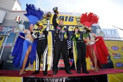 Top Fuel Sieger Antron Brown, Funny Car Sieger Alexis Dejoria, Pro Stock Sieger Jason Line