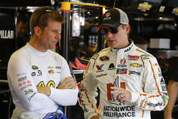 Jamie McMurray, Chip Ganassi Racing Chevrolet, Jeff Gordon, Hendrick Motorsports Chevrolet