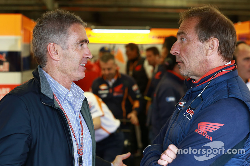 Mike Doohan e Livio Suppo, Team Principal Repsol Honda Team