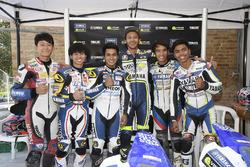 Valentino Rossi en de deelnemers aan het Yamaha VR46 Master Camp