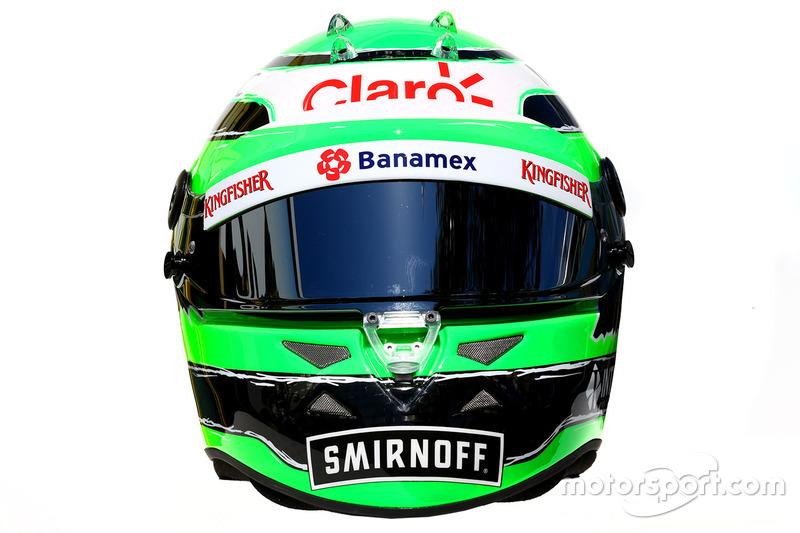 Le casque de Nico Hülkenberg, Sahara Force India F1