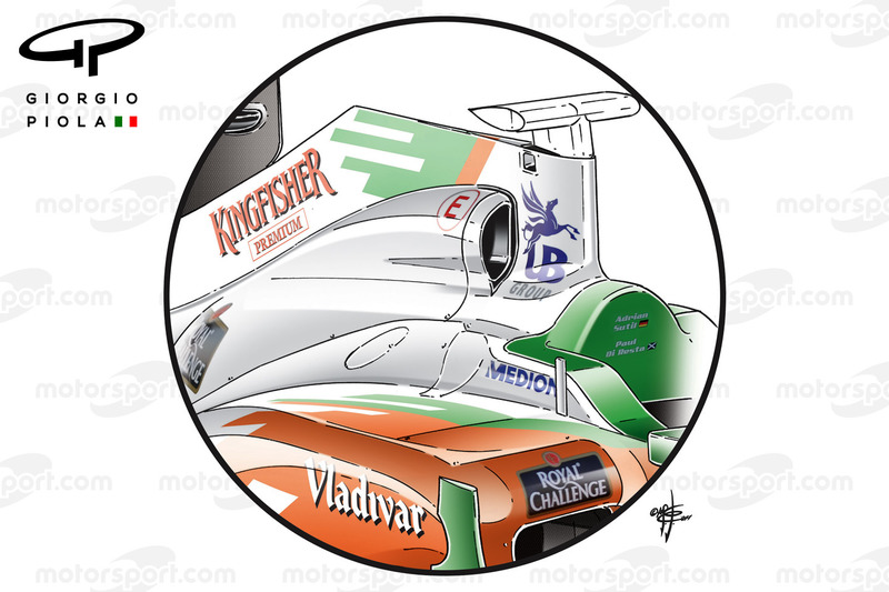 Entrée d'air de la Force India VJM04