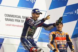 Podium: winnaar Jorge Lorenzo, Yamaha Factory Racing