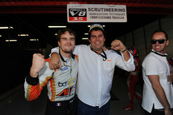 Race winner and Champion Tom Dillmann, AVF with Adrian Valles