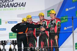 Podium LMP2: third place #43 RGR Sport by Morand Ligier JSP2 Nissan: Ricardo Gonzalez, Filipe Albuquerque, Bruno Senna