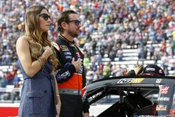 Kurt Busch, Stewart-Haas Racing Chevrolet with Ashley Van Metre