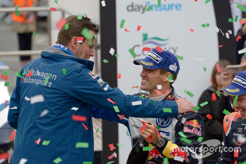 Dr. Frank Welsch y Sébastien Ogier, Volkswagen Motorsport