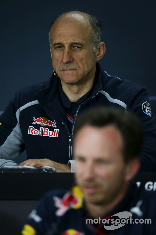 Franz Tost, Scuderia Toro Rosso Team Principal and Christian Horner, Red Bull Racing Team Principal
