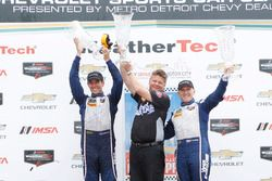 GTD podium: winners Jeroen Bleekemolen, Ben Keating