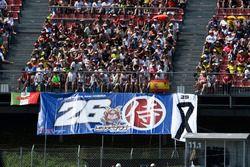 Une banderole de fans de Dani Pedrosa, Repsol Honda Team