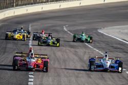 Carlos Munoz, Andretti Autosport Honda, Helio Castroneves, Team Penske Chevrolet