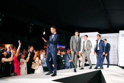 Pascal Wehrlein, Manor Racing et Esteban Ocon, Manor Racing au Amber Lounge Fashion Show.