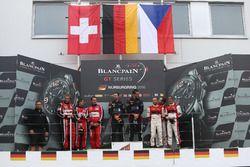 Podium PRO-AM Cup: Winners #66 Black Pearl Racing, Ferrari 458 Italia GT3: Steve Parrow, Alexander M