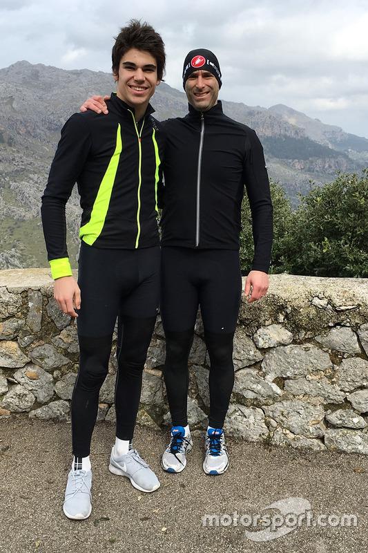 Lance Stroll and David Whiteman in Mallorca