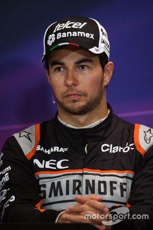 Sergio Perez, Sahara Force India F1, en conférence de presse