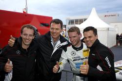 Pole position voor #9 AMG-Team Black Falcon, Mercedes-AMG GT3: Hubert Haupt, Yelmer Buurman, Maro En