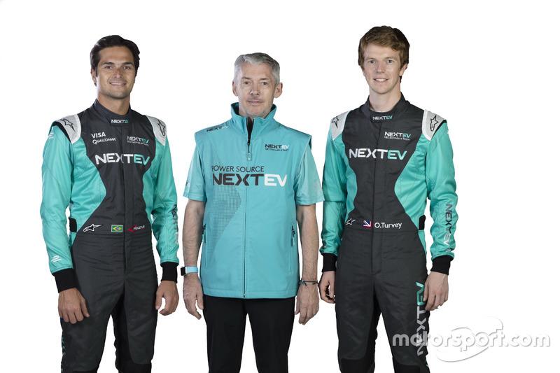 Nelson Piquet Jr., Martin Leach e Oliver Turvey, NeXTEV TCR Formula E Team