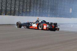 Crash d'Alex Tagliani, A.J. Foyt Enterprises Honda