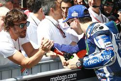 Race winner Jorge Lorenzo, Yamaha Factory Racing, Fernando Alonso