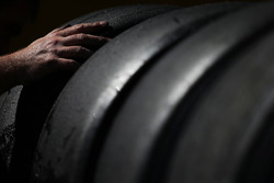 Worn Pirelli tyres