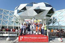 Podio: Giandomenico Basso, Lorenzo Granai (Ford Fiesta R5 #3, BRC), Paolo Andreucci, Anna Andreussi