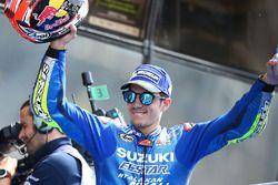 Podio: tercer clasificado Maverick Viñales, Team Suzuki MotoGP