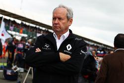 Frédéric Vasseur, directeur de Renault Sport F1 Team, sur la grille