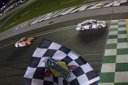 Brad Keselowski, Team Penske Ford takes the checkered flag
