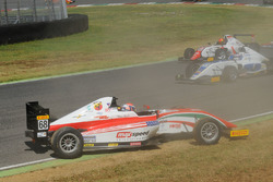Juan Manuel Correa, Prema Powerteam atfter the crash with teammate Mick Schumacher, Prema Powerteam