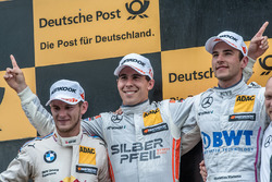 Podium, Marco Wittmann, BMW Team RMG, BMW M4 DTM, Robert Wickens, Mercedes-AMG Team HWA, Mercedes-AM