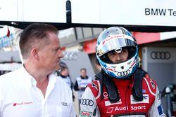 Rene Rast, Audi Sport Team Rosberg, Audi RS 5 DTM, mit seinem Ingenieur