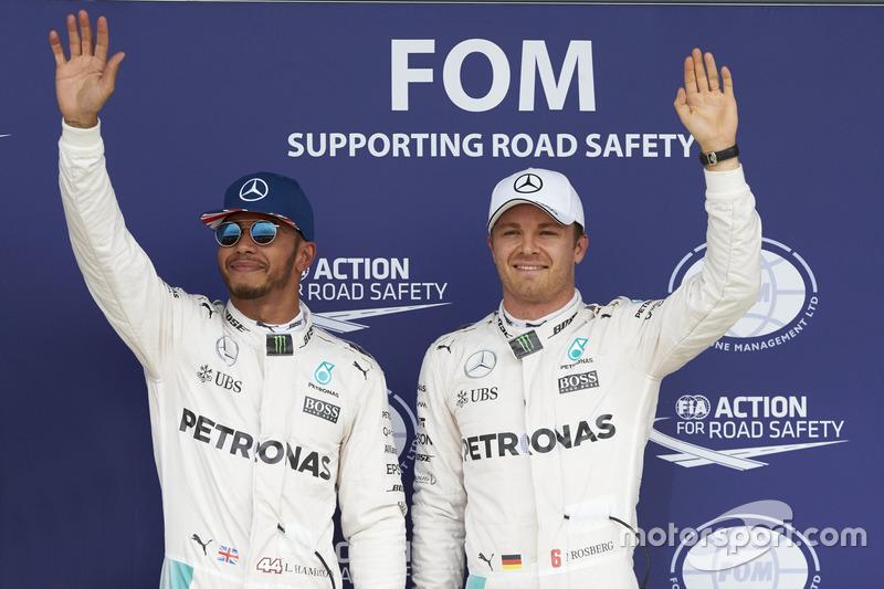 Lewis Hamilton, Mercedes AMG F1 y Nico Rosberg, Mercedes AMG F1