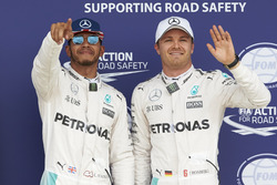 Lewis Hamilton, Mercedes AMG F1 and team mate Nico Rosberg, Mercedes AMG F1