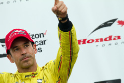 Second place Helio Castroneves, Team Penske Chevrolet