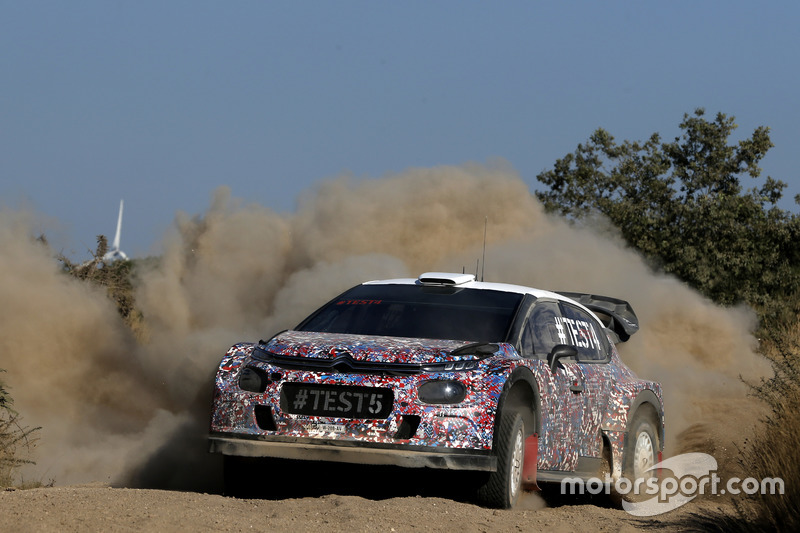 Kris Meeke, Craig Breen y Khalid Al-Qassimi, Citroën World Rally Team, Citroën C3 WRC Plus 2017