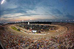 The sun sets over Richmond International Raceway