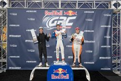 Podium GRC Lites: race winner Miki Wekstrom, second place Blake Williams, third place Parker Chase