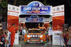 Partenza: Simone Campedelli, Danilo Fappani, Ford Fiesta GPL R R5, Orange 1 Racing