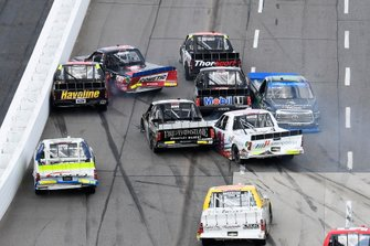 Stewart Friesen, Halmar Friesen Racing, Chevrolet Silverado Halmar International, Harrison Burton, Kyle Busch Motorsports, Toyota Tundra Safelite AutoGlassGrant Enfinger, ThorSport Racing, Ford F-150 Curb Records, Austin Hill, Hattori Racing Enterprises, Toyota Tundra Ibaraki Toyopet, Todd Gilliland, Kyle Busch Motorsports, Toyota Tundra Mobil 1