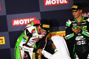 1. Scott Deroue, Kawasaki MOTOPORT, 3. Bruno Ieraci, Kawasaki GP Project