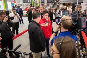 Charles Leclerc, Ferrari gets interviewed